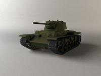 3d model war tank