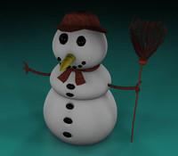 3d model snowman