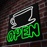 Neon Coffee Sign