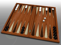 3d backgammon set board
