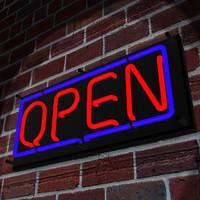 maya neon open sign