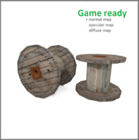 cable spool 3d model