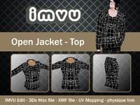 3d jacket open model