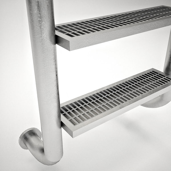 swimming pool ladder obj - Pool Ladder... by smyhu