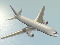 b 767-200 airliner dxf