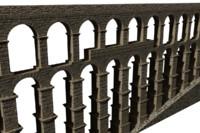 3d roman aqueduct segovia