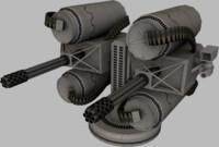 guns 3d obj