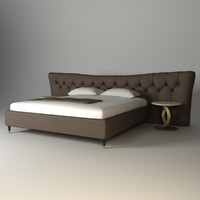 bed butterfly opera 3d max