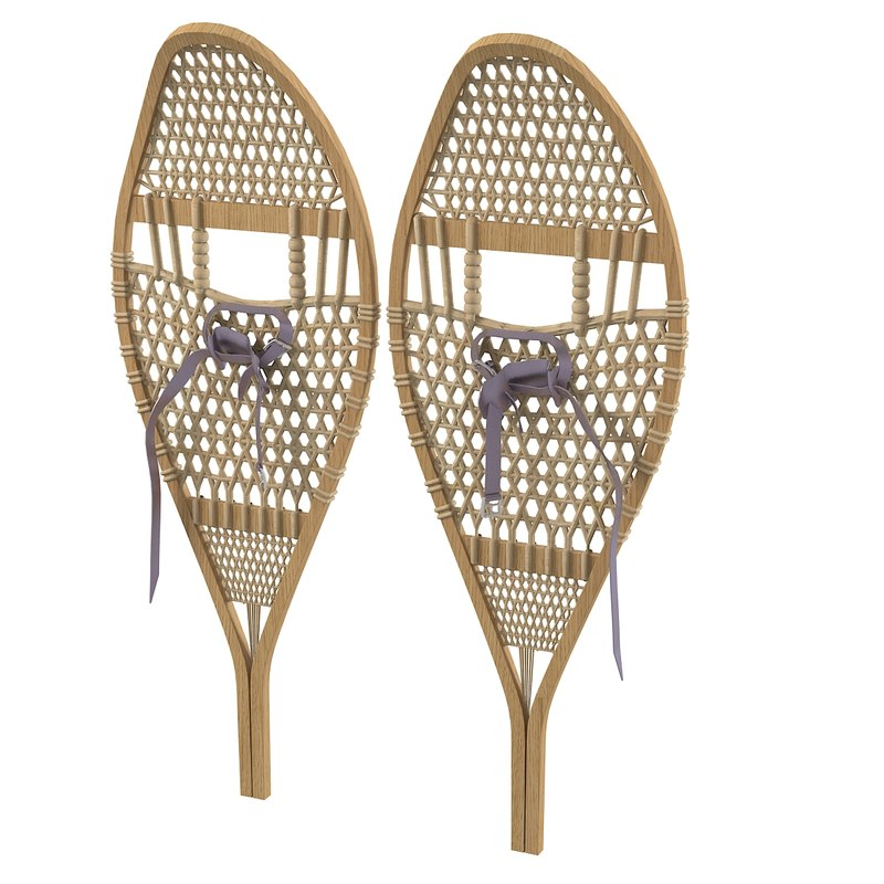 Classic Canadian Wooden Vintage Snowshoes0001.jpg