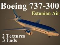 boeing 737-300 ell 3d model