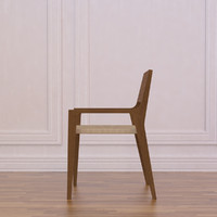 timber dining chair 3d model