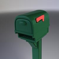 Mailbox LWO, OBJ, DAE, FBX