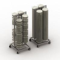 3d model plates rack