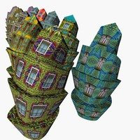 building structure 3d obj