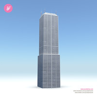 3d skyscraper 02 day night model