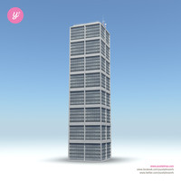 3d skyscraper 01 day night model