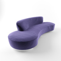 serpentine sofa 3d model