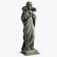 Jesus With Sheep Sculpture