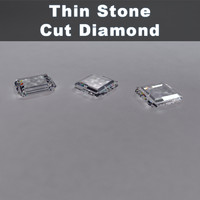stone cut diamond 3d model