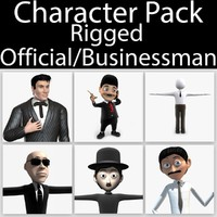 3d character pack 09 rigged model