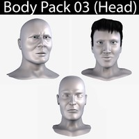3ds max body pack 03 head male