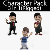 character pack 08 lady 3d max