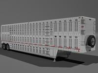 3d model livestock trailer wilson