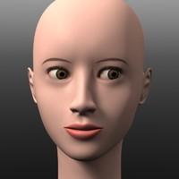 obj head asian girl