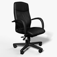 banel leatherboss office chair 3d model