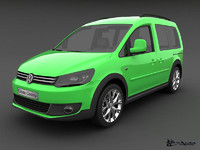 3d model volkswagen cross caddy 2013