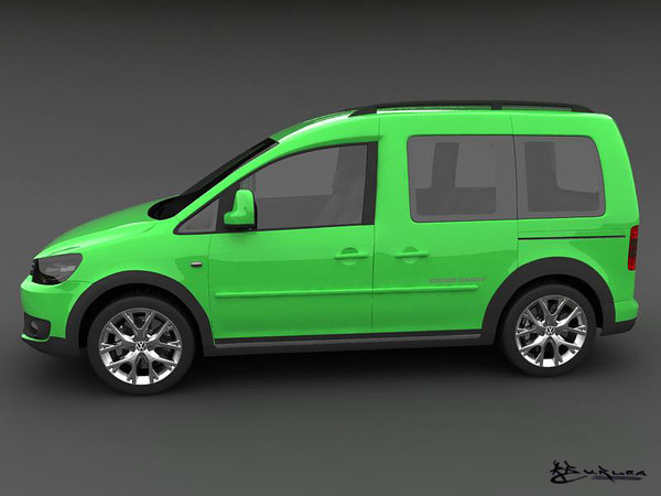3d model volkswagen cross caddy 2013. Black Bedroom Furniture Sets. Home Design Ideas