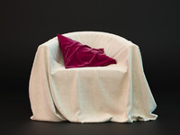 3d realistic armchair fabric cloth model