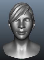 female Head ( dark skinned )