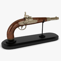 3d vintage gun model
