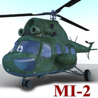 3d mi- helicopter model