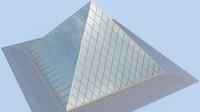 small glas pyramid
