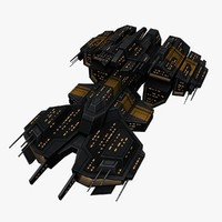 3d upgraded ship space battleships model