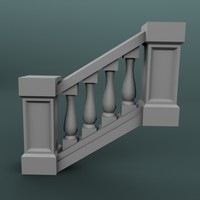 3d model staircase balustrade