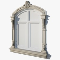 Arched Window Ornate Frame wf05