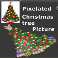 Pixels Christmas Tree 03