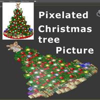 Pixels Christmas Tree 03