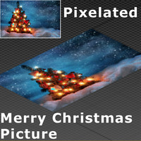 pixelated merry christmas 3d max
