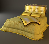 3d bed headboard padded