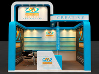 3ds max exhibition stall