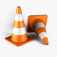 road cone 3d 3ds