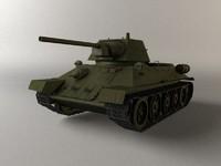 3d model soviet tank