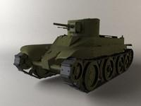 3d model bt-2 soviet tank
