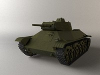 3d model t-50 soviet tank