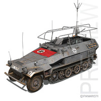 SD.KFZ 251/3 IV Ausf.A - Radio and Command Vehilce