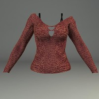 3ds max woman sweater female